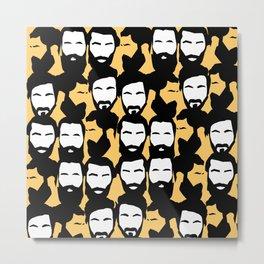 beards are sexy_orange Metal Print