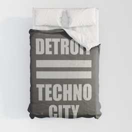 Detroit Techno city, electronic djs gift Comforters