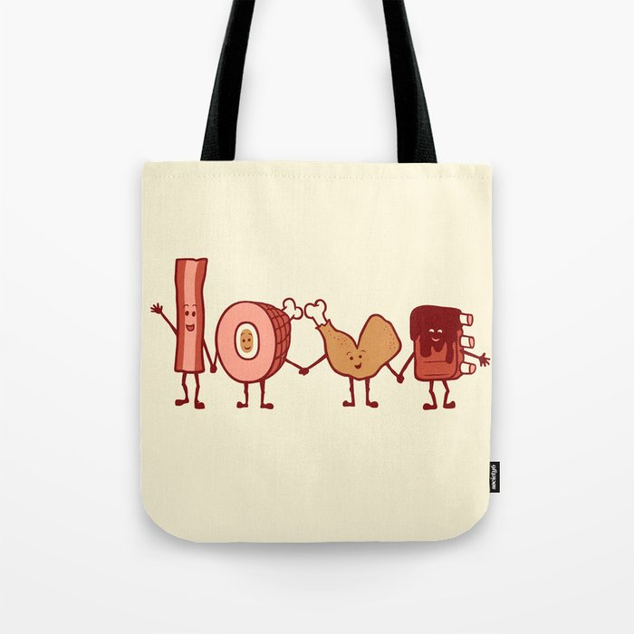 Meat Love U Tote Bag