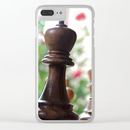The Queen & Her Roses Clear iPhone Case