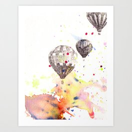 Hot Air Balloons Painting Art Print