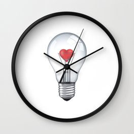 Lamp heart Wall Clock