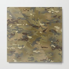 Camouflage: Mud Colors Metal Print