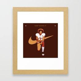 Colin Kaepernick - Kaep Doing It Framed Art Print