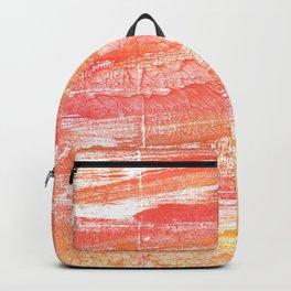 Vivid tangerine abstract watercolor Backpack
