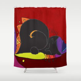 Mary-Anne's Red Cat Mug Shower Curtain