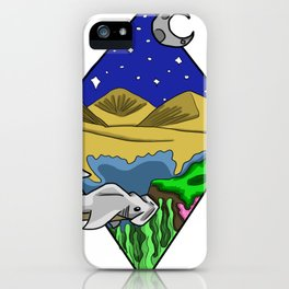 From the night sky to the ocean floor iPhone Case