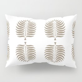 TROPICAL PALMS . COCOA Pillow Sham