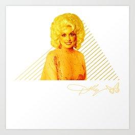 Dolly Parton Retro Gold Art Print