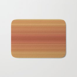 Orange Sunset Stripe Design Bath Mat