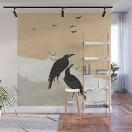 Crows from Koson Wall Mural