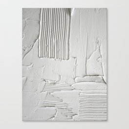 Relief [3]: an abstract, textured piece in white by Alyssa Hamilton Art  Canvas Print
