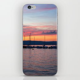 Sunset Lake Annecy iPhone Skin