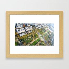 Champs Des Mars Below Framed Art Print