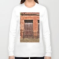 doors Long Sleeve T-shirts featuring Barn Doors by Agrofilms