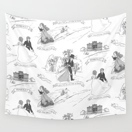 Pride and Prejudice Toile Wall Tapestry