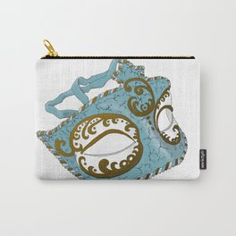Venetian Mask - Blue Carry-All Pouch