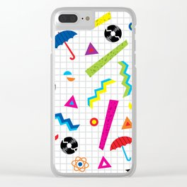 Breaking Atoms Clear iPhone Case