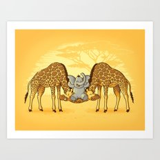 Safari Park Art Print