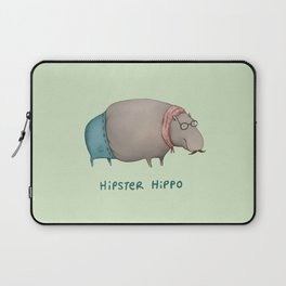 Hipster Hippo Laptop Sleeve