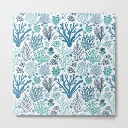 Blue corals Metal Print