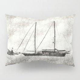Vintage Schooner Pillow Sham
