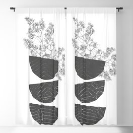 Vibration - Minimalism Mid-Century Modern Forms Blackout Curtain