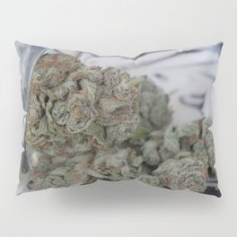 Silver Afghan Medical Marijuana Pillow Sham