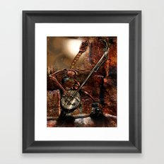 One Thousand Pardons: One-String Bass Gimp in the Meat Castle Framed Art Print