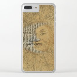Sun and Moon Together Clear iPhone Case