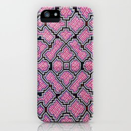 Song of Bringing Things Together - Traditional Shipibo Art - Indigenous Ayahuasca Patterns iPhone Case
