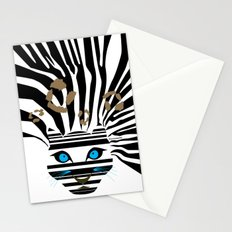 Leopard Zebra crossover Stationery Cards