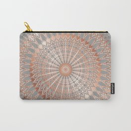Rose Gold Gray Mandala Carry-All Pouch