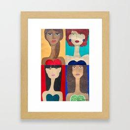 Long Neck Sisters Framed Art Print