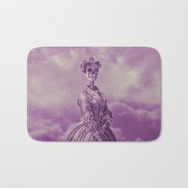 Lady Bonehead VINTAGE PURPLE / Skeleton portrait Bath Mat