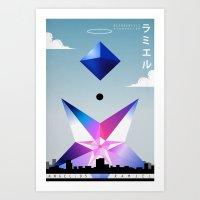 neon genesis evangelion Art Prints featuring Neon Genesis Evangelion - Angel 05: Ramiel by MNM Studios