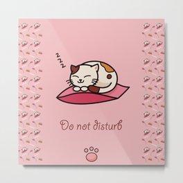 Do not disturb - cute cat sleeping Metal Print