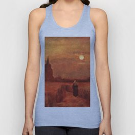 The Old Tower in the Fields by Vincent van Gogh Unisex Tank Top