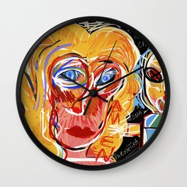 Graffiti Art for an Italian Pop Band Wall Clock