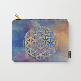 The Flower of Life in the Sky Carry-All Pouch