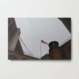 Old Glory and Golden Gate Metal Print