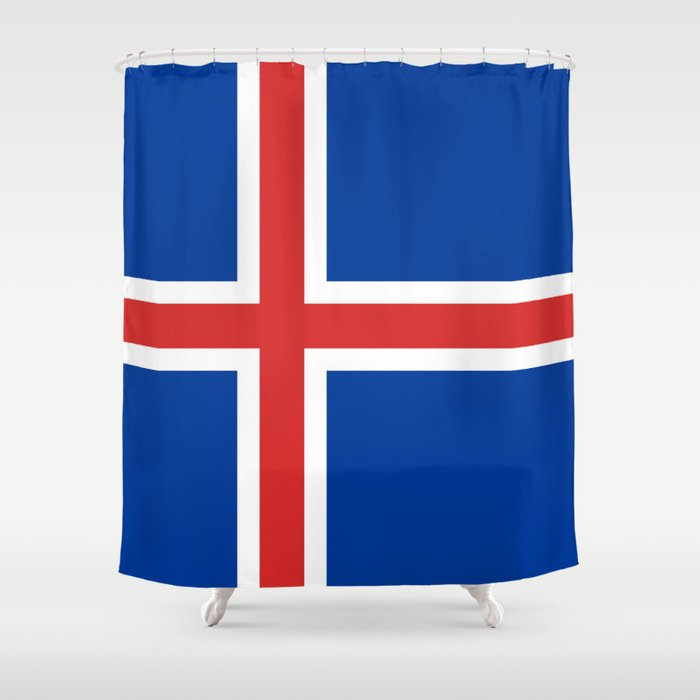 Flag of Iceland - High Quality Image Shower Curtain