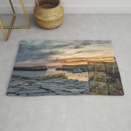 Lobster Trap sunset at lanes cove Rug