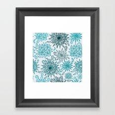 Seamless flower pattern Framed Art Print