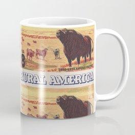 Rural America cattles herd vintage US post stamp Coffee Mug