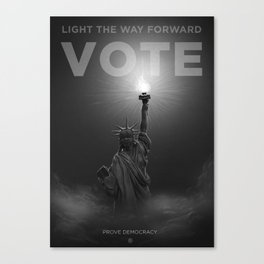 Vote: Light the way forward Canvas Print