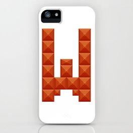"""Letter """"W"""" print in beautiful design Fashion Modern Style iPhone Case"""