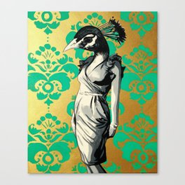 Ms. Peacock Canvas Print