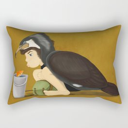 Little Black Cormorant Rectangular Pillow
