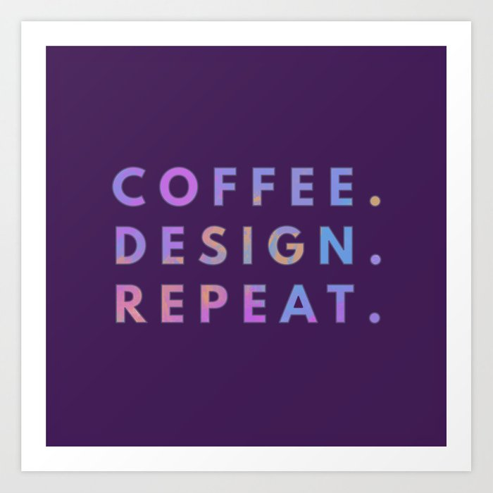 Coffee Design Repeat Art Print